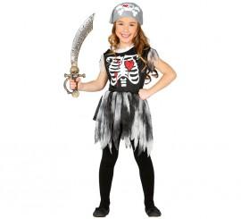 Disfraz de Pirata Esqueleto en varias tallas