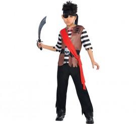 Disfraz de pirata Jack para niños y adolescentes
