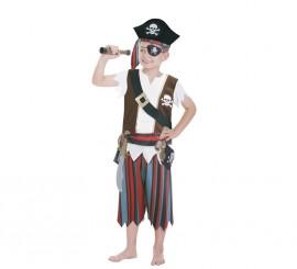 Disfraz de pirata para niños de 3 a 6 años