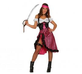 Disfraz de Pirata Pink Charlotte
