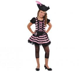 Disfraz de pirata rosa para niñas