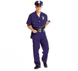 Disfraz de Policía azul para hombre