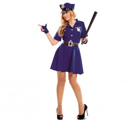 Disfraz de Policía azul para mujer