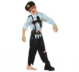 Disfraz de Policía Zombie en varias tallas