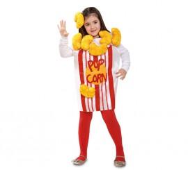 Disfraz de Pop Corn o Palomitas para niña