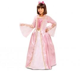 Disfraz de Princesa Rosa con estrellitas para niña