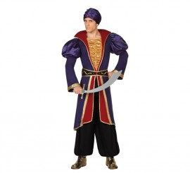 Disfraz de Príncipe Árabe morado en varias tallas