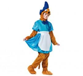 Disfraz de Ratita de cuento azul para mujer