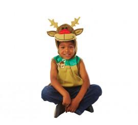 Disfraz de Reno Rodolfo para niños de 2 a 3 años para Navidad