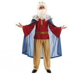 Disfraz de Rey Mago azul en talla M-L