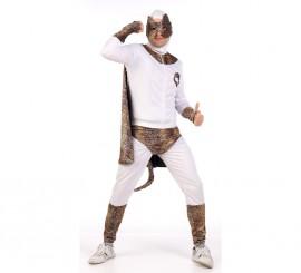 Disfraz de superhéroe leopardo para hombre en varias tallas