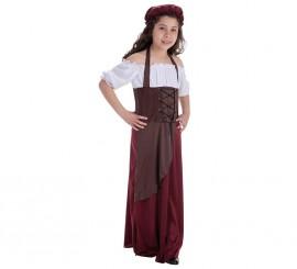 Disfraz de Tabernera Medieval para niña