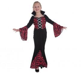 Disfraz de Vampira Condesa Romanov para niña