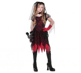 Disfraz Novia gótica para niñas y adolescentes en varias tallas Halloween
