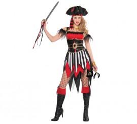 Disfraz Pirata belleza del naufragio para mujeres
