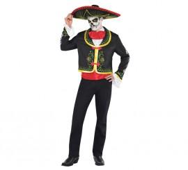 Disfraz Señor Catrin para hombres en varias tallas. Sombrero incluido.