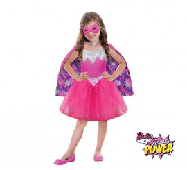Disfraz superheroína princesa Barbie Power para niñas