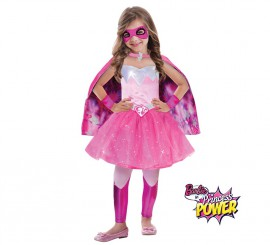 Disfraz superheroína princesa Barbie Super Power niñas varias tallas