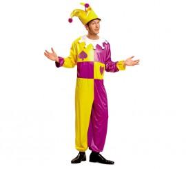 Disfraz de Bufón o Joker para Hombre talla M-L