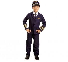 Disfraz Piloto de Vuelo Comercial para Niño en varias tallas