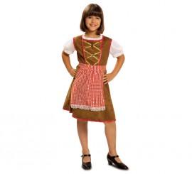 Disfraz de Tirolesa para Niña en varias tallas