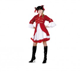 Disfraz de Capitán Pirata para mujer talla M-L