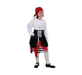 Disfraz de joven Pirata para niñas