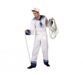 Disfraz de Marinero blanco para hombre en varias tallas
