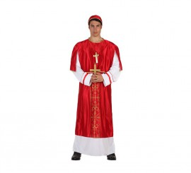 Disfraz de Cardenal rojo para hombre talla M-L