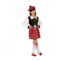 Disfraz de Escocesa para niñas en varias tallas