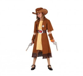Disfraz de Vaquera para niñas de 5 a 6 años