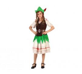 Disfraz de Niña de los Bosques de 5 a 6 años