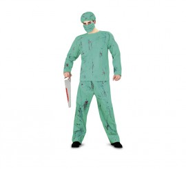 Disfraz Cirujano salpicado sangre para Halloween