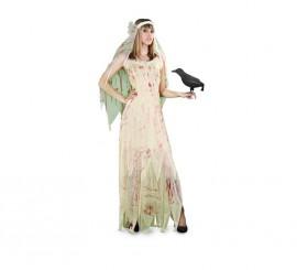 Disfraz de Novia Cadáver con sangre para mujer t.M-L
