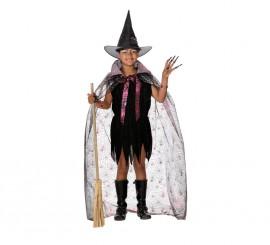 Disfraz de Bruja con capa para niñas Varias tallas