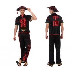 Disfraz de Chino en negro para hombre en varias tallas