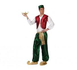 Disfraz de Príncipe Árabe verde para hombre