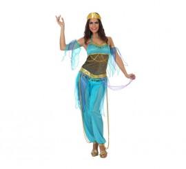 Disfraz Bailarina Árabe azul para mujer