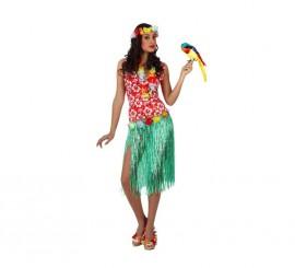 Disfraz de Hawaiana para mujer talla M-L