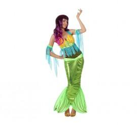 Disfraz de Sirena para mujer talla M-L
