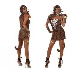 Disfraz de Chica Leopardo para mujer talla M-L