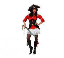 Disfraz Capitana Pirata para mujer en varias tallas