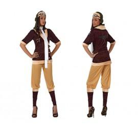 Disfraz de Aviadora de Época para mujer en varias tallas