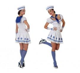 Disfraz de Marinera blanco para mujer