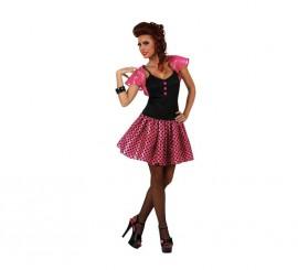 Disfraz de Chica de los años 60 rosa mujer