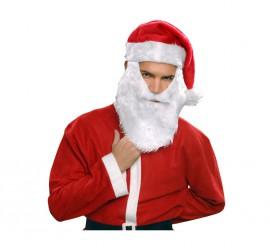 Sombrero Santa Claus o Papa Noel con barba