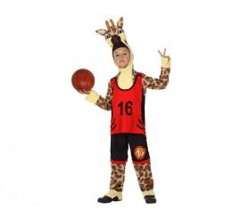 Disfraz de Jirafa Deportista para niños en varias tallas