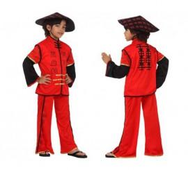 Disfraz de Chino rojo para niños