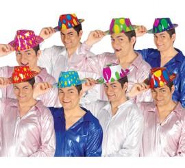 Sombrero de Ganster de colores de plástico