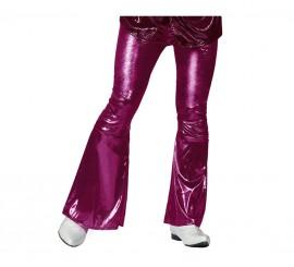 Pantalón de la Disco fucsia para hombre en varias tallas